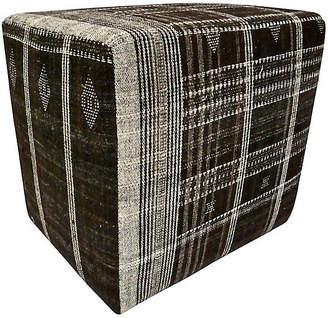 One Kings Lane Vintage India Hand-Spun Wool Ottoman