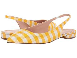 J.Crew Pointy Toe Slingback Flat in Gingham