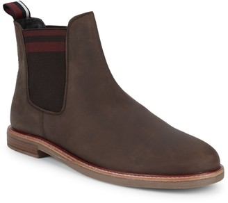 Ben Sherman Striped Suede Chelsea Boots