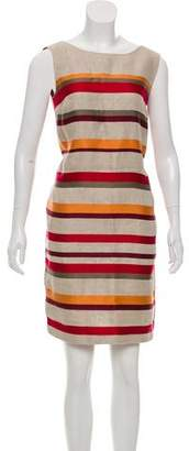 Loro Piana Linen Striped Knee-Length Dress