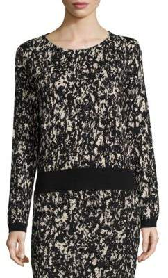Emka Printed Sweater $195 thestylecure.com