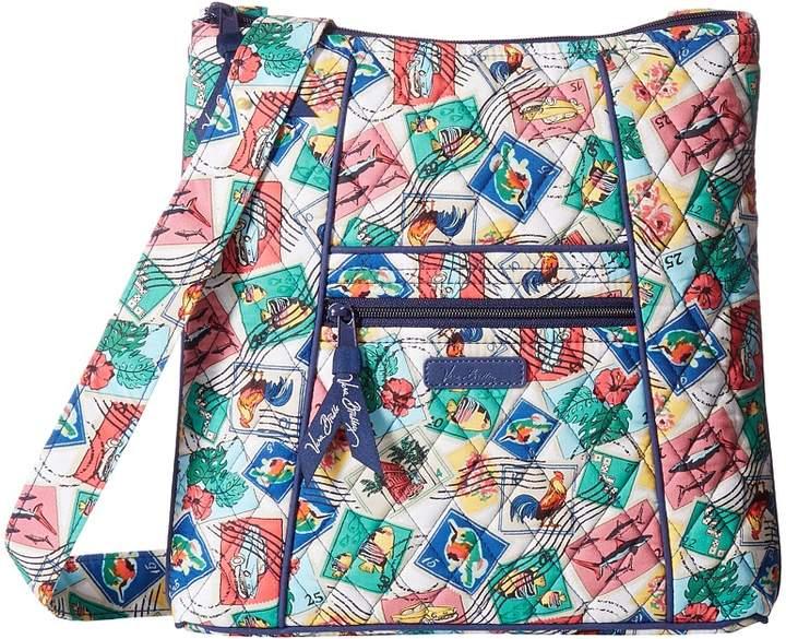 Vera Bradley Hipster Cross Body Handbags - CUBAN STAMPS - STYLE