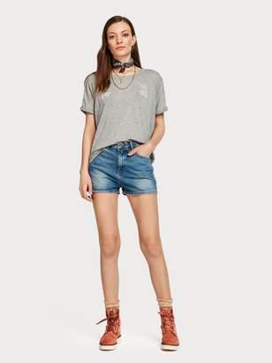 Scotch & Soda High Rise Denim Shorts - Blauwalking