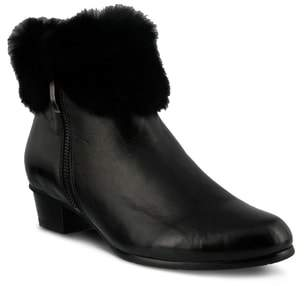 Spring Step Burnside Faux Fur Trim Bootie