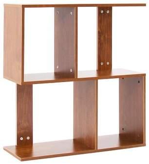 Ebern Designs Tallmadge 2 Tier Shelves Display Geometric Bookcase Ebern Designs