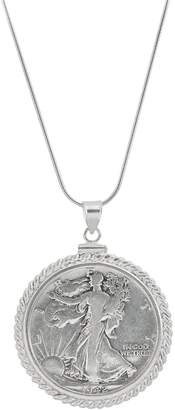 American Coin Treasures Walking Liberty Coin Pendant