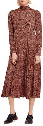 Free People Loveless Printed Midi Dress