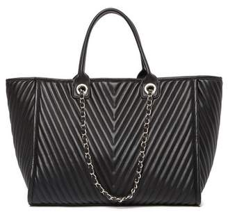 Steve Madden Tina Chevron Quilted Large Tote Bag