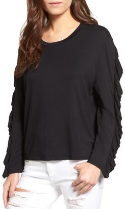Women's Bp. Ruffle Sleeve Tee $35 thestylecure.com