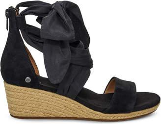 f7b901dc29f Ugg Suede Wedge Sandals Black - ShopStyle UK