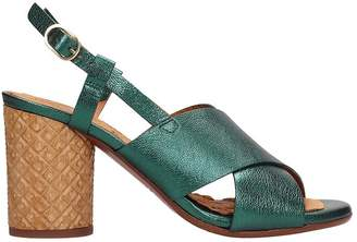 Chie Mihara (チエ ミハラ) - Chie Mihara Green Metallic Leather Sandals