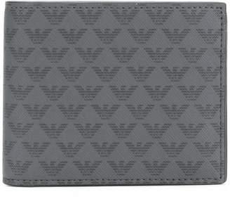 Emporio Armani eagle-print bifold wallet