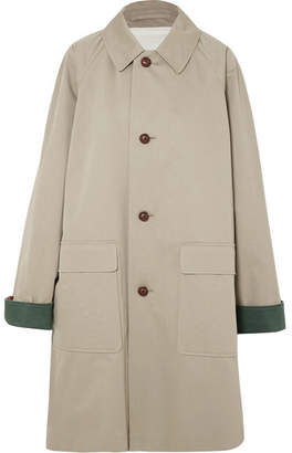 Burberry Cotton-gabardine Coat - Beige
