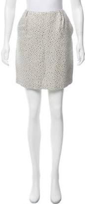 Peter Som Brocade Knee-Length Skirt