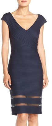 Tadashi Shoji Mixed Media Sheath Dress $268 thestylecure.com
