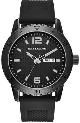 Skechers Mens Black Silicone Strap Watch
