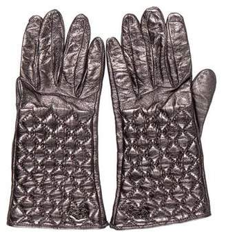 Burberry Metallic Leather Gloves