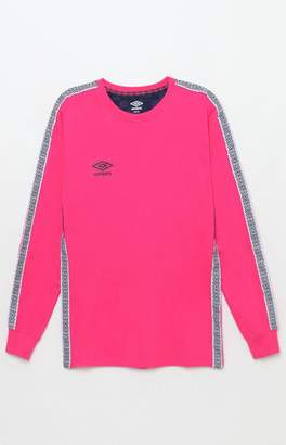Umbro Tapered Pink Long Sleeve Jersey