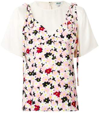 Kenzo floral layered top