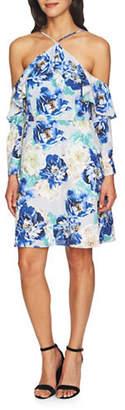 Cynthia Steffe Off-the-Shoulder Ruffle Dress