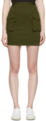 Dsquared2 Green Cargo Skirt $365 thestylecure.com