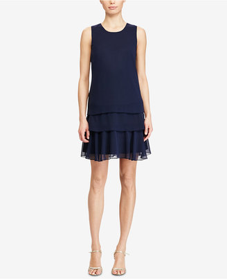 American Living Tiered Georgette Dress $79 thestylecure.com