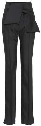 Valentino Wool and silk-blend pants
