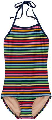 Toobydoo Madagascar Striped One-Piece Swimsuit (Toddler, Little Girls, & Big Girls)