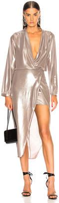 Michelle Mason Long Sleeve Wrap Dress