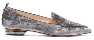 Nicholas Kirkwood Beya Crushed Velvet Loafers - Womens - Light Purple