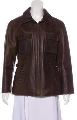 Chaiken Zip-Up Leather Jacket