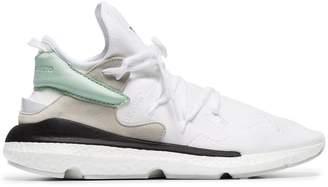 dc132003526f Y-3 white kusari II leather and neoprene sneakers