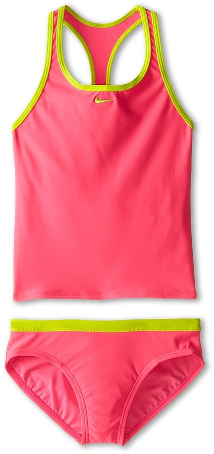 Nike Core Solid Racer Back Tankini And Brief (Big Kids)