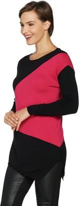 Laurie Felt Modern Color Block Sweater
