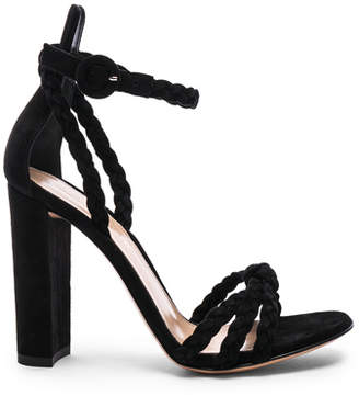Gianvito Rossi for FWRD Suede Liya Braided Strap Heels
