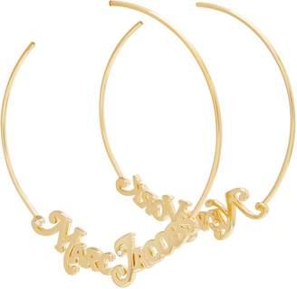"""Marc Jacobs The Logo"""" hoop earrings"""