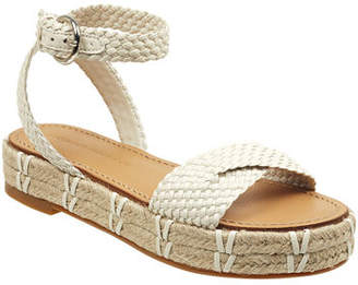 Sigerson Morrison Jaiyce Braided Leather Platform Sandals