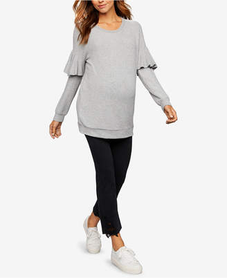 J Brand Maternity Cropped Boot-Cut Jeans