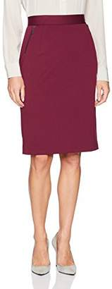 Kasper Women's Ponte Skirt with Zipper Detailing