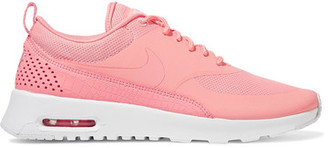 Nike - Air Max Thea Croc-effect Leather-trimmed Coated Mesh Sneakers - Coral $95 thestylecure.com