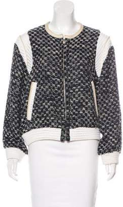 IRO Leather-Accented Alisa Jacket