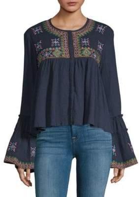 Kas Megan Embroidered Cotton Top