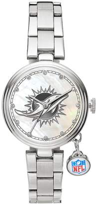 Sparo Charm Watch - Women's Miami Dolphins Stainless Steel