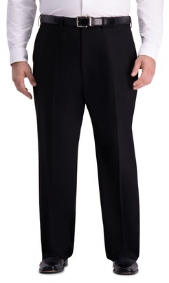 Haggar Big & Tall J.M. Premium 4-Way Stretch Classic-Fit Flat-Front Suit Pants