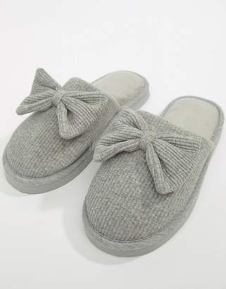 Asos DESIGN Nixie bow slippers