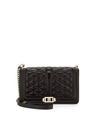 Rebecca Minkoff Love Quilted Leather Crossbody Bag, Black $295 thestylecure.com