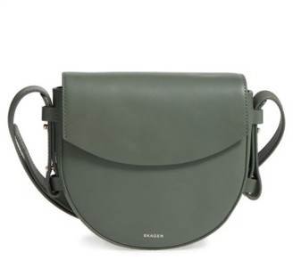 Skagen Lobelle Leather Saddle Bag - Green $195 thestylecure.com