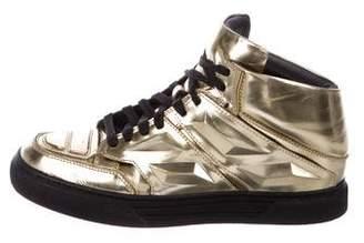 Alejandro Ingelmo Exotron Metallic Sneakers