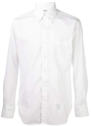 Thom Browne contrast fastening shirt
