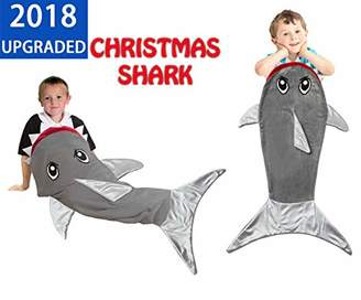 Shark Tail Blanket Sleeping Bag for Boys Girls and Kids Age 3-12 Years. Soft Fleece Fabric. Best and Super Cuddly Gift for Christmas and Birthday